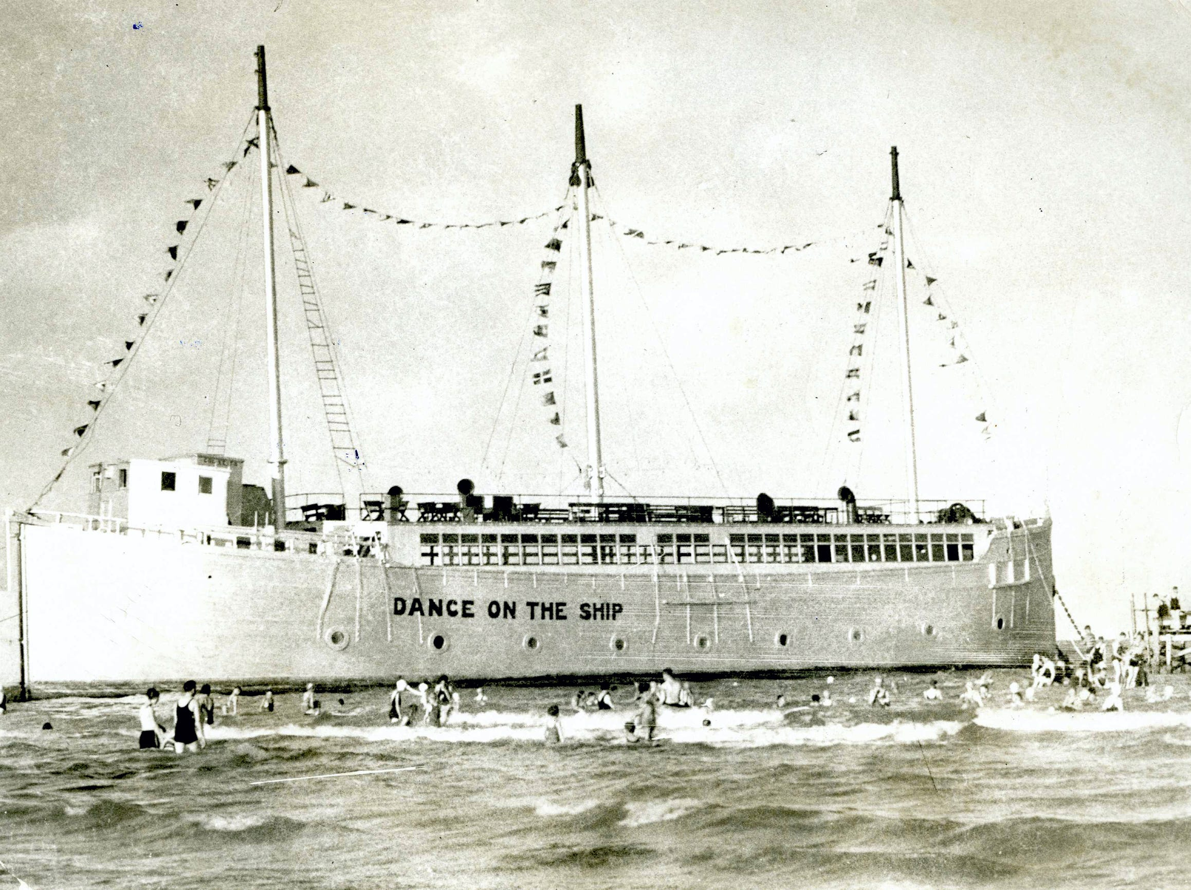 """The Ship"" was a popular dance spot on Corpus Christi's North Beach, seen here circa 1930."