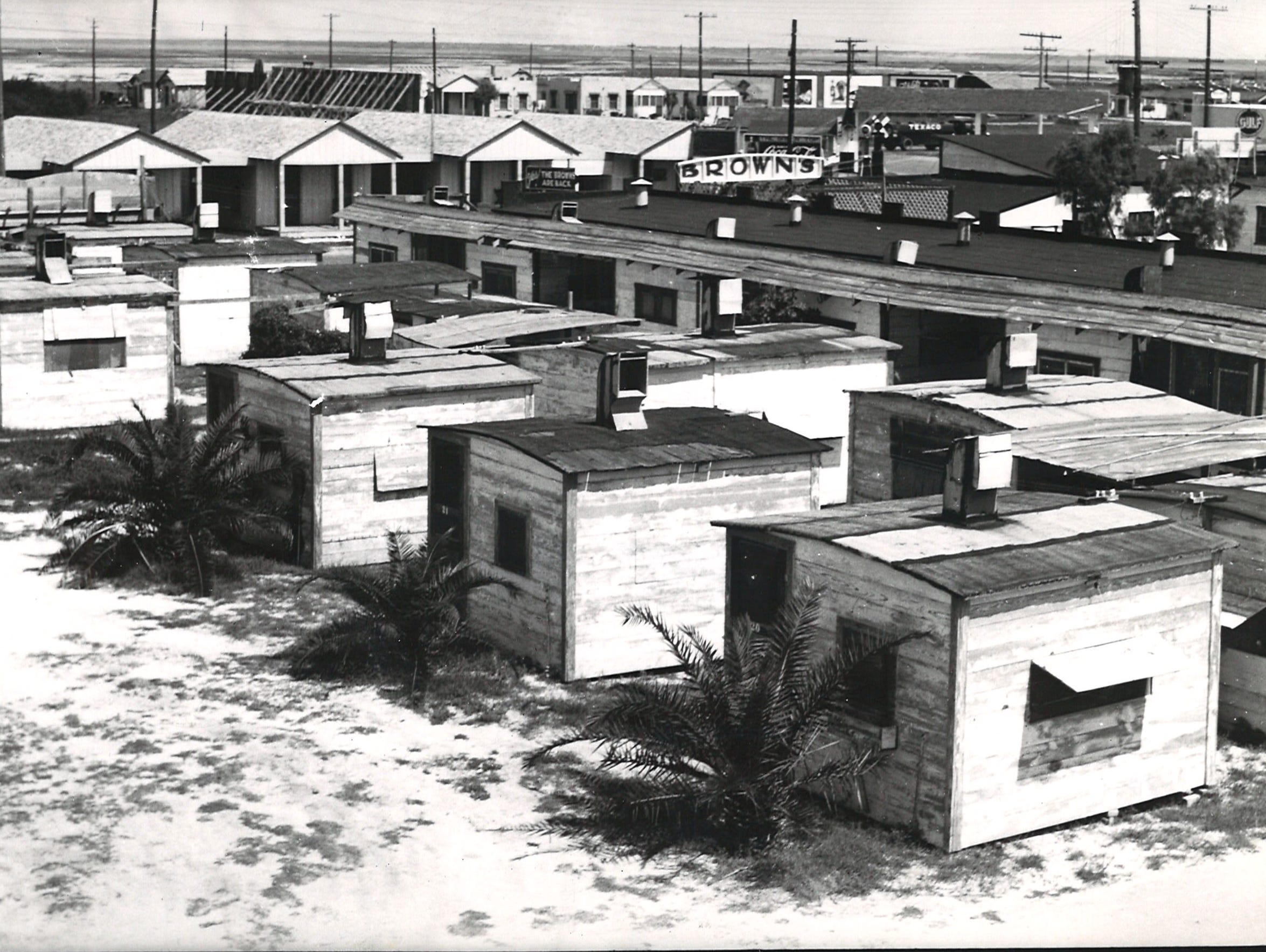 The Belknap Camp on Corpus Christi's North Beach on Aug. 12, 1934. Photo by Doc McGregor.