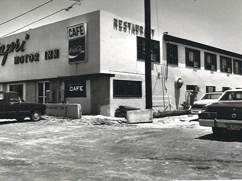 The Capris Motor Inn on Corpus Christi's North Beach in 1982.