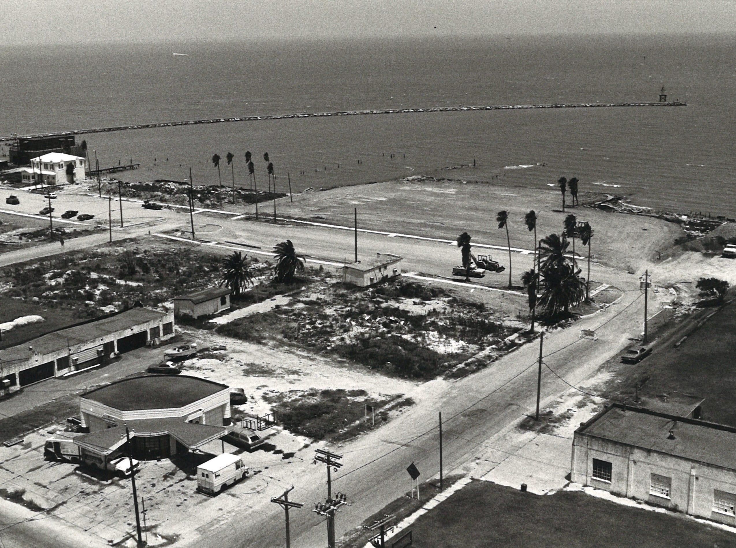 Corpus Christi's North Beach, as seen from the Harbor Bridge, on July 19, 1982.