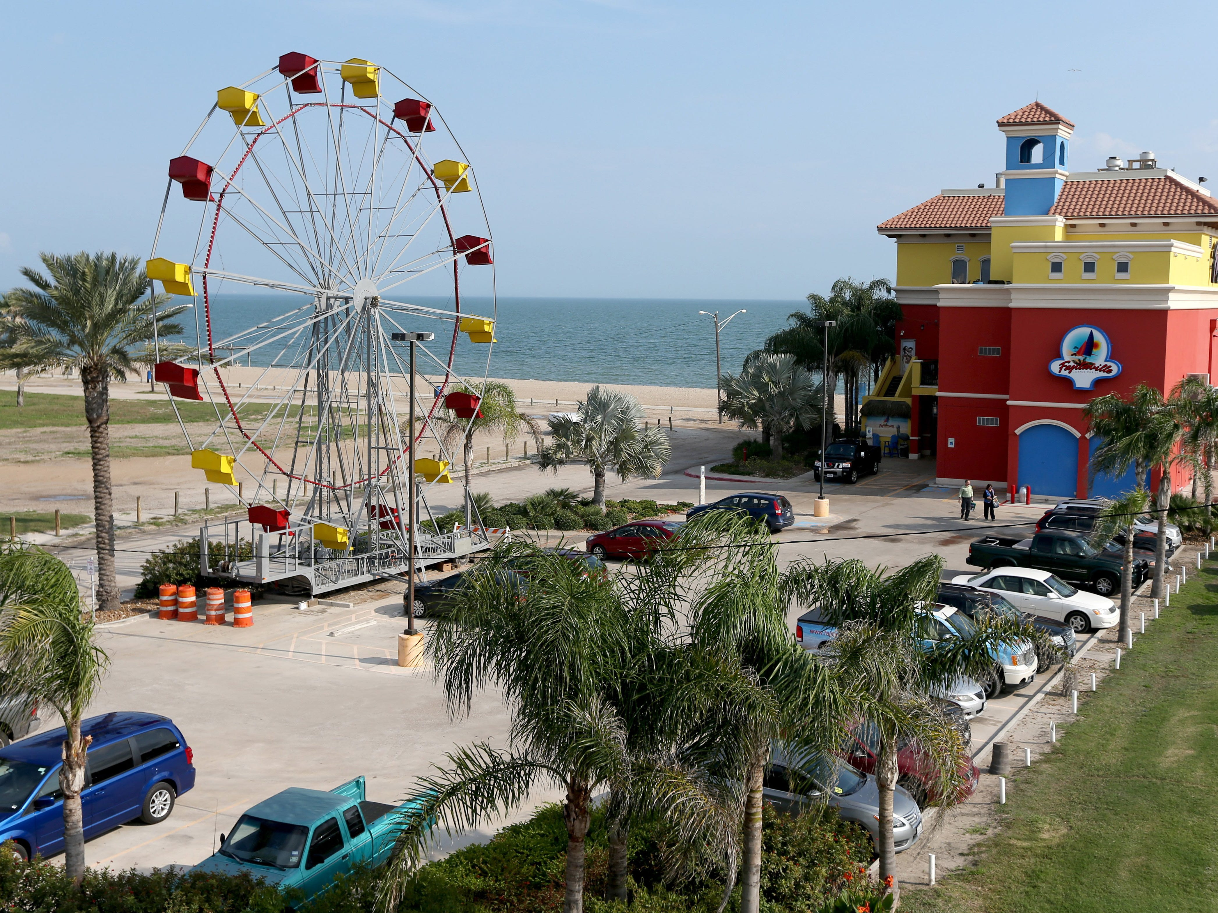 Fajitaville owners had recently installed a new Ferris wheel in the parking lot of their North Beach restaurant in Corpus Christi when this image was shot Thursday, Dec. 18, 2014.