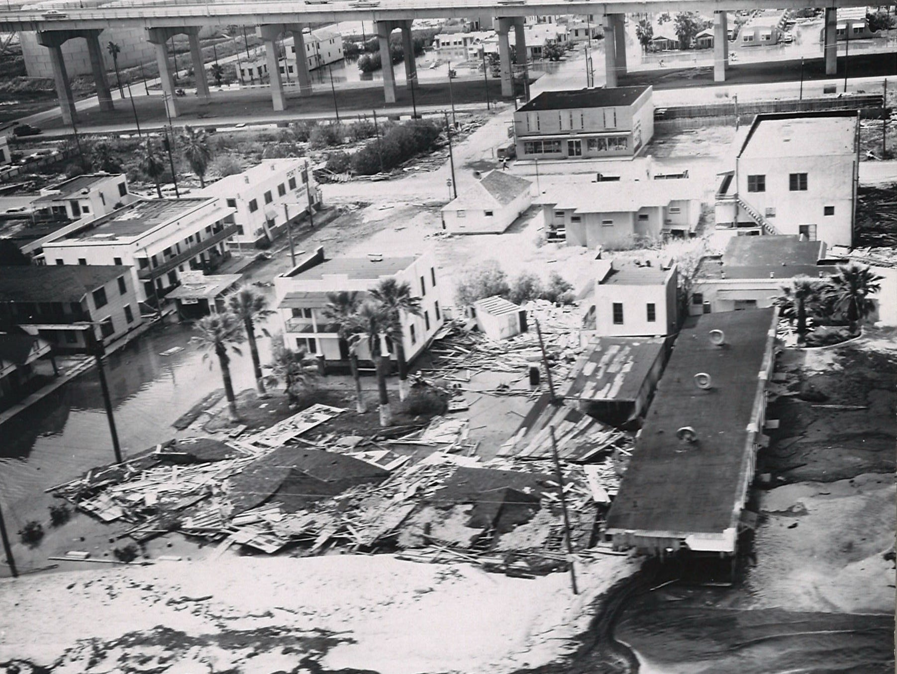 Corpus Christi's North Beach suffered damage and flooding from Hurricane Beulah in Septemner 1967.