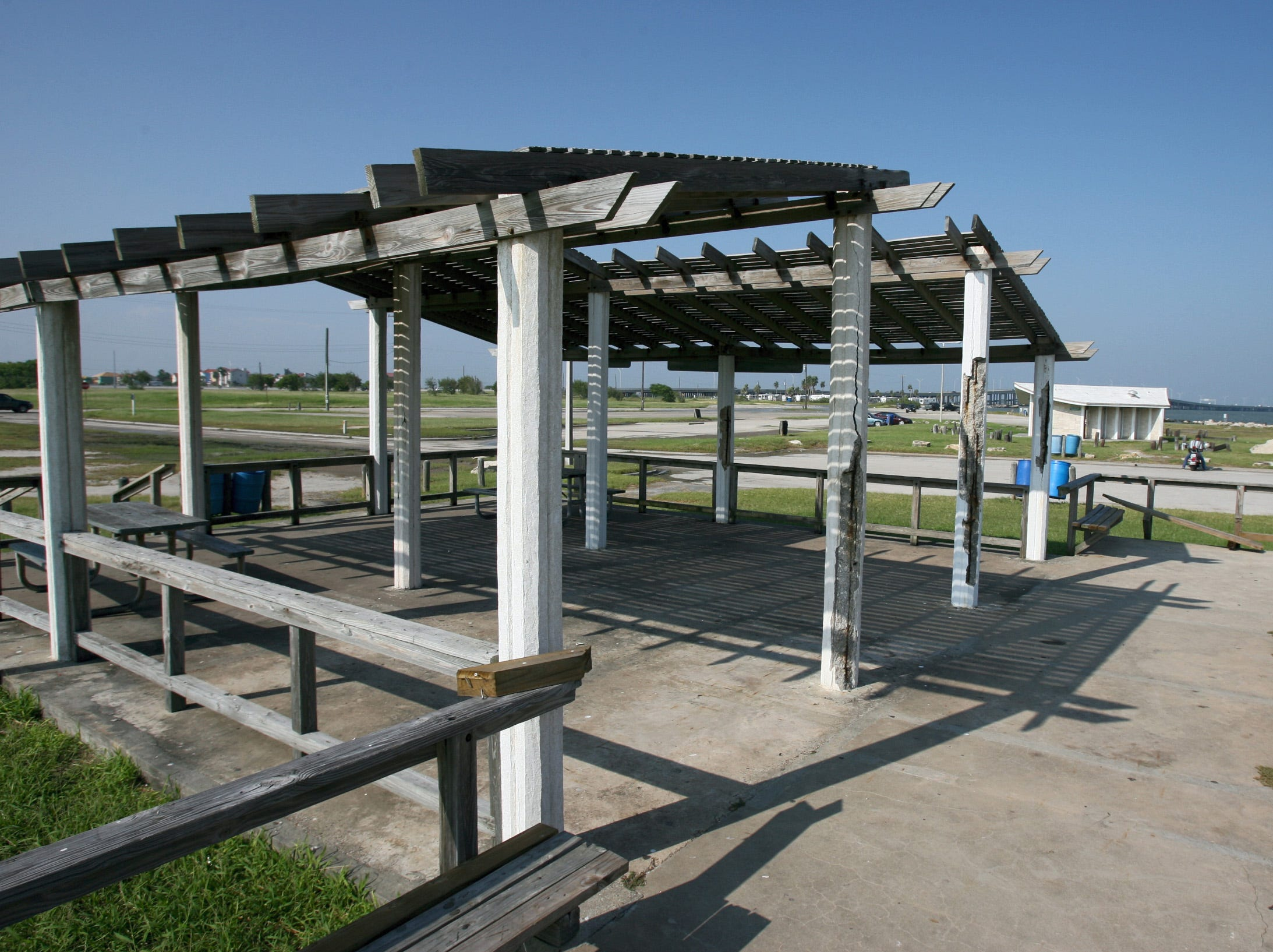 The pavilion at the Corpus Christi Beach North Facility in October 2007. North Beach was officially called Corpus Christi Beach at the time.