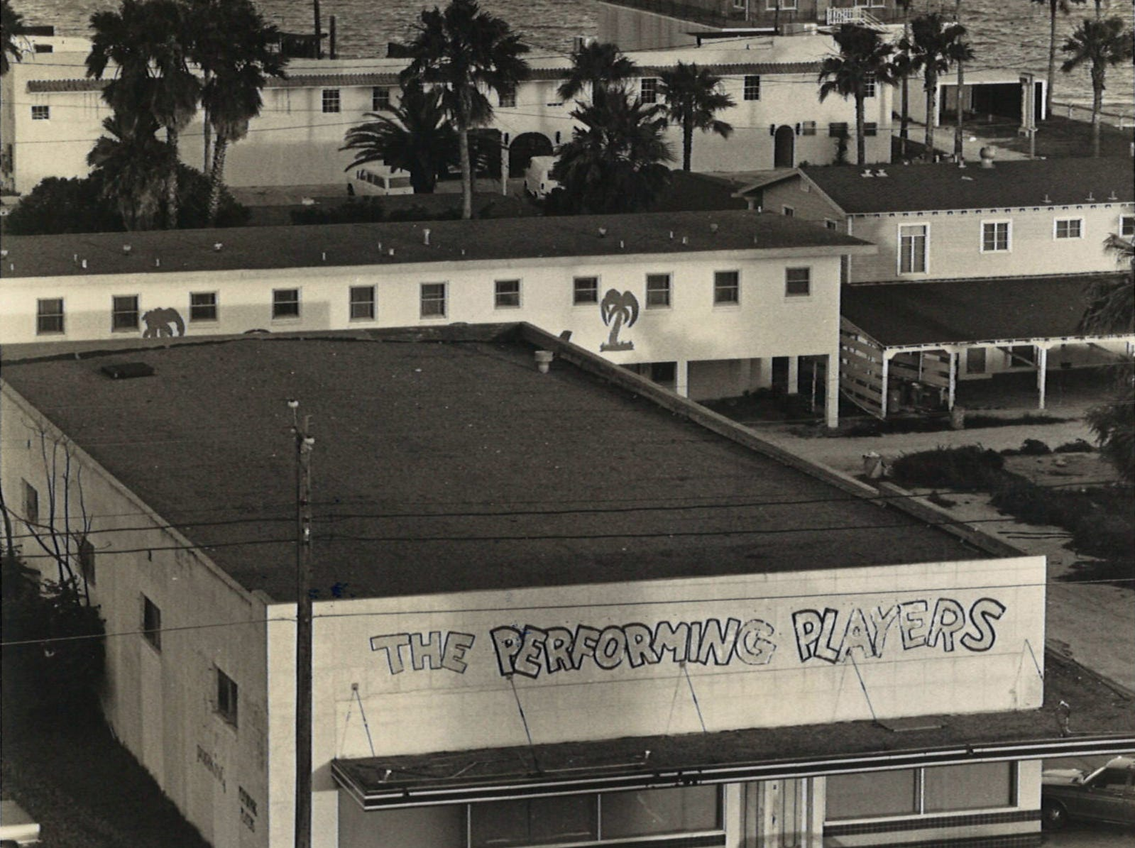 DAC Playhouse on Corpus Christi's North Beach was the home of the Performing Players acting troupe. The theater, seen here in June 5, 1977, was an old HEB store.
