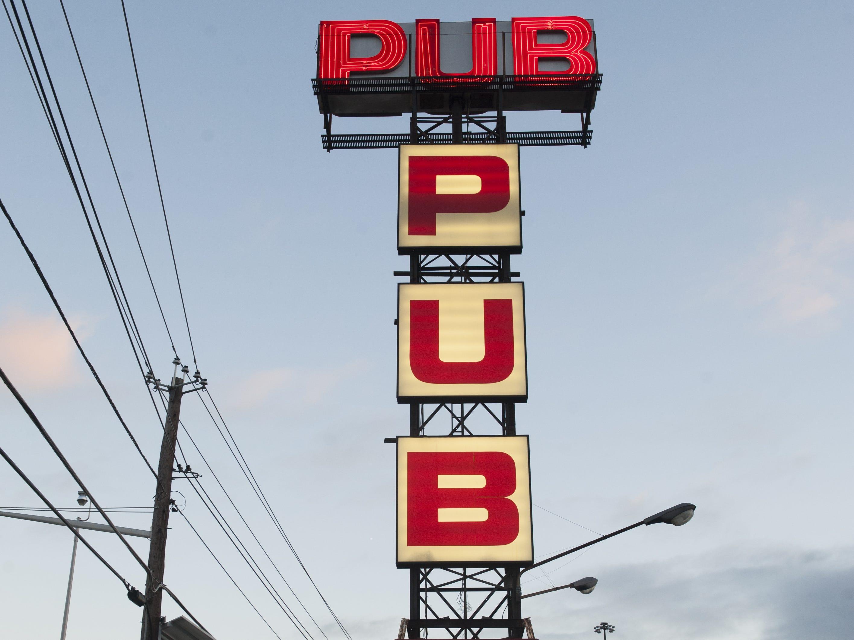 The Pub sign in Pennsauken.