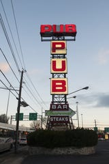 The landmark Pub sign at Airport cirlce in Pennsauken.