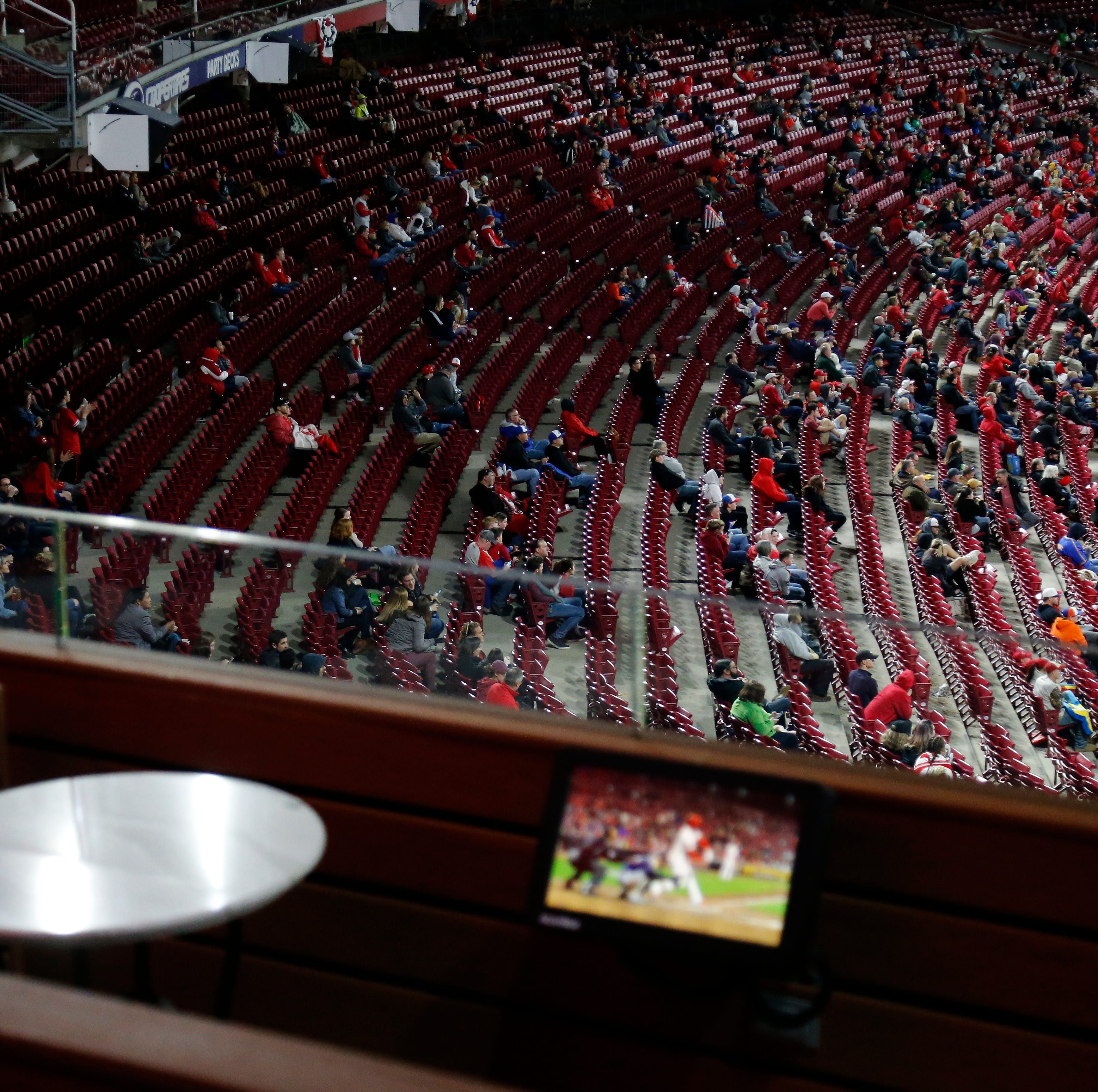 Cincinnati Reds attendance jumps by 2,000 after lowest-attended game Monday