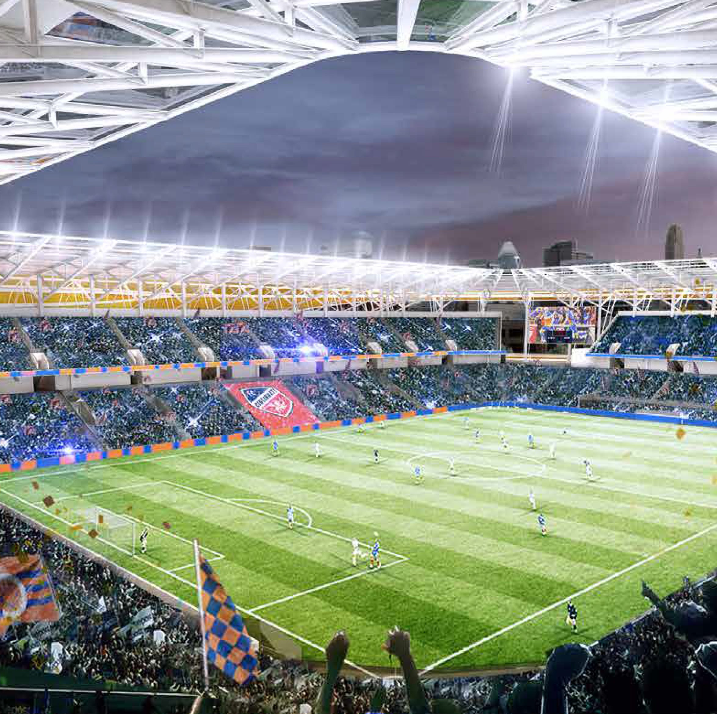 New renderings: FC Cincinnati stadium will have a canopy over every seat; will glow less