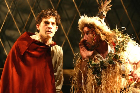 """Ensemble Theatre Cincinnati's 2007 production of """"The Frog Princess"""" featured Charlie Clark (L) and Michael G. Bath, among others. The Joseph McDonough/David Kisor will return to ETC in a revised form as part of the 2019-2020 season."""