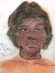 "The ""girl by highway"" sketch of an unidentified Cincinnati homicide victim drawn by serial killer Samuel Little. Little initially said he killed her in 1974, but investigators believe she could have been killed any time between 1980 and 1999."