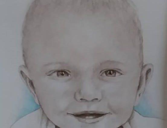 This is Thom Van Benschoten's portrait of Amy Chasco's son, Ben, at 6 months old. He's now 9 and in third grade.