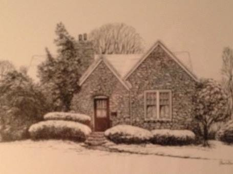 Here's a drawing by Thomas Van Benschoten of former Enquirer employee Nancy Daly's late parents' house in Park Hills. His inspiration was a photograph taken by her mother, Helen Daly, after an unusual October snowfall in the late 1980s.