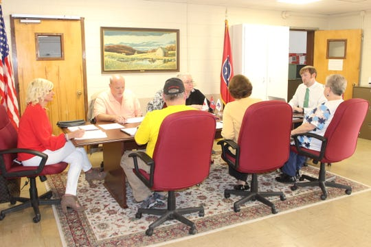 Members of the Stewart County Election Commission, including new commissioners, meet on April 2, 2019, for the first and final time before the April 23 state Senate general election.