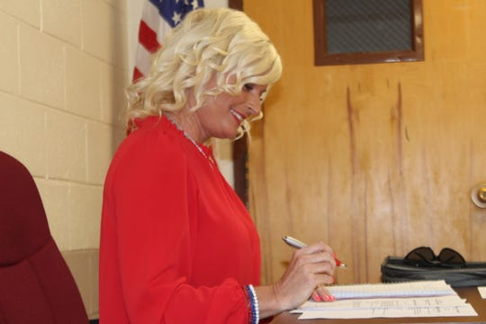 Republican Carol Lovin, one of the new commissioners at the Stewart County Election Commission, was elected chairperson during their meeting on April 2, 2019.