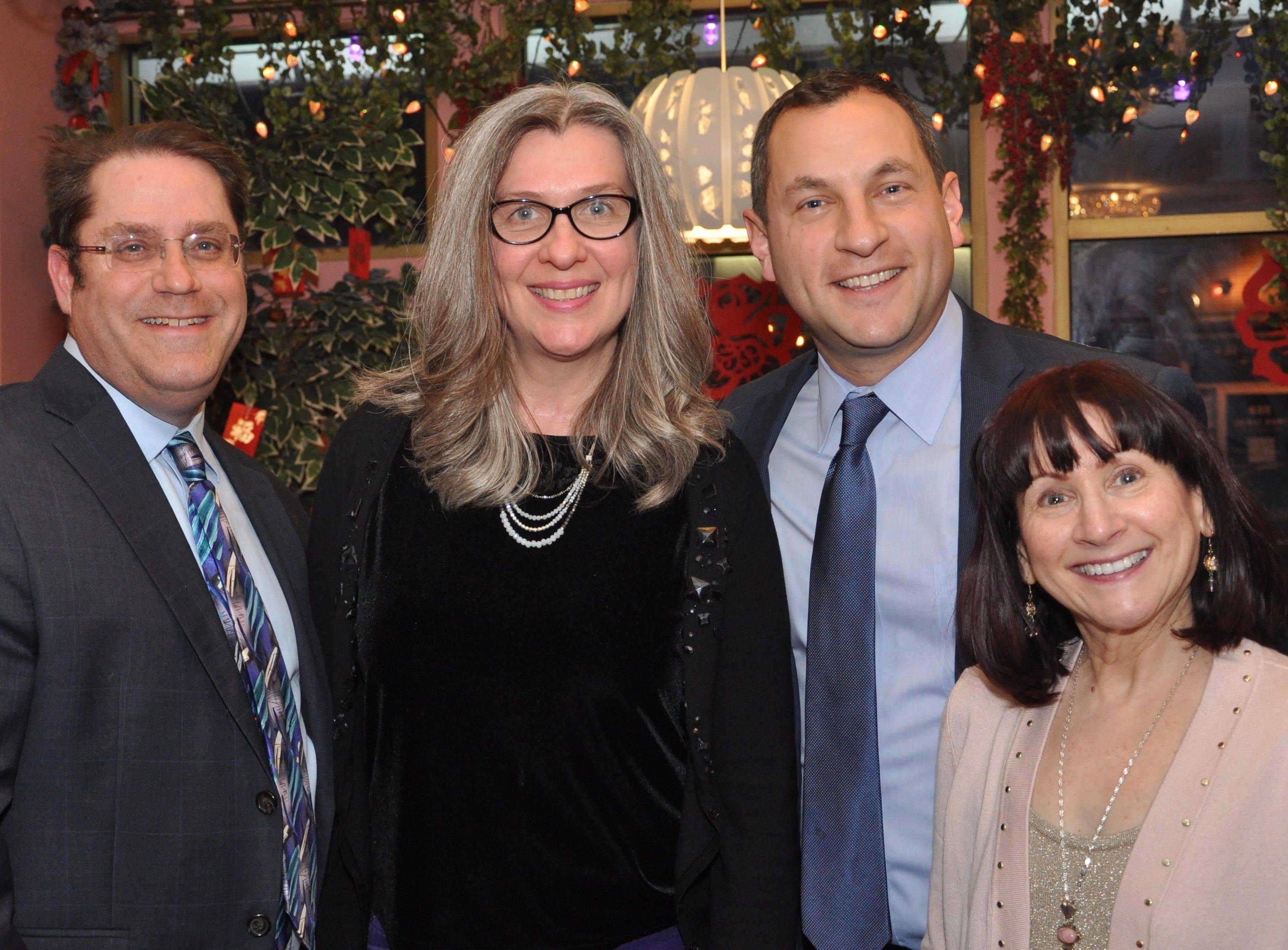 (Left to right)Metuchen Councilman Dan Hirsch, Council President Linda Koskoski, Mayor Jonathan Busch and Councilwoman Dorothy Rasmussen.