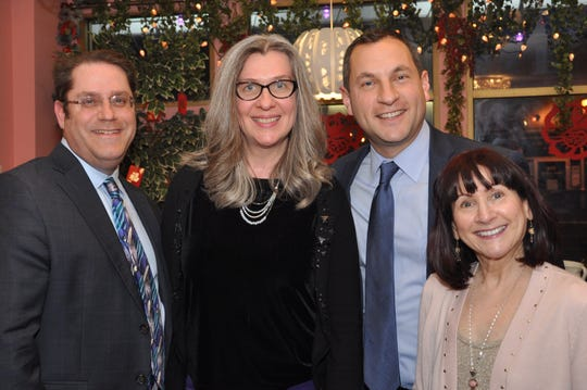 (Left to right) Metuchen Councilman Dan Hirsch, Council President Linda Koskoski, Mayor Jonathan Busch and Councilwoman Dorothy Rasmussen.