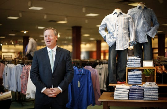 Jim von Maur, CEO of Von Maur department stores, talks about keeping true to the company's core values as a leading reason the business experiences success while other department stores are closing during a visit to the store at Valley West Mall in West Des Moines on Friday, March 1, 2019.