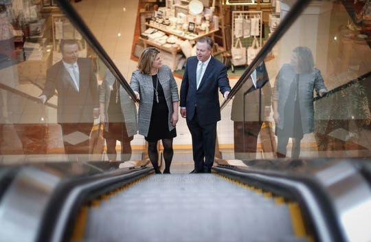 Jim von Maur, CEO of Von Maur department stores, tours the store at Valley West Mall in West Des Moines on Friday, March 1, 2019. Von Maur believes maintaining relationships with customers and staying true to the company's core values is among the reasons the business is able to succeed while other department stores are closing.