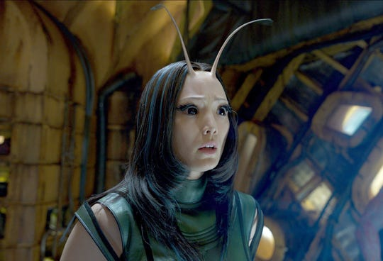 "Mantis, the character played by Pom Klementieff in the ""Guardians of the Galaxy"" and ""Avengers: Infinity War."""