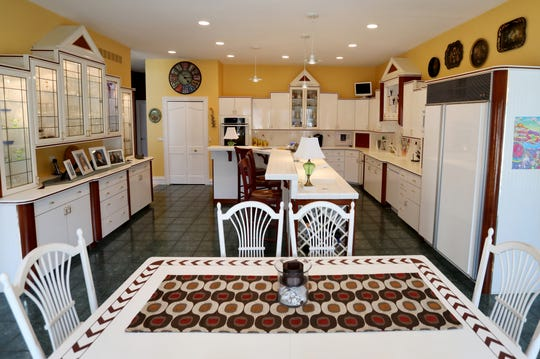 This is the main kitchen in the plantation-style home in Plymouth Township, Michigan. There is a second kitchen in the home's lower level.