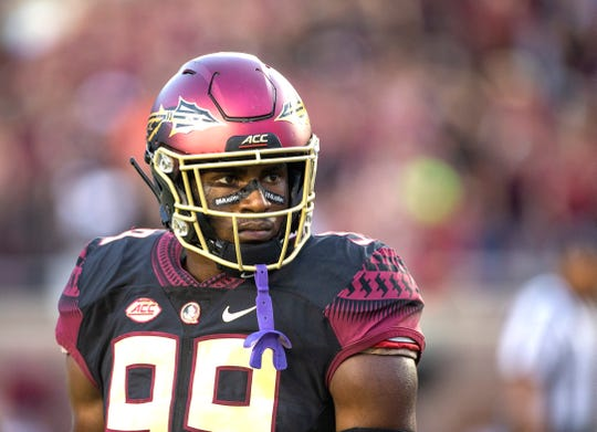 Justin Rogers sees the Lions taking Florida State defensive end Brian Burns in the first round.