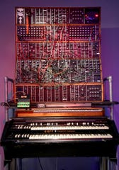 A customized organ used by Keith Emerson of Emerson, Lake and Palmer is displayed.