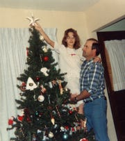 December 1988.  Kerri Rawson with her father Dennis Rader, better known to the world as serial killer BTK.