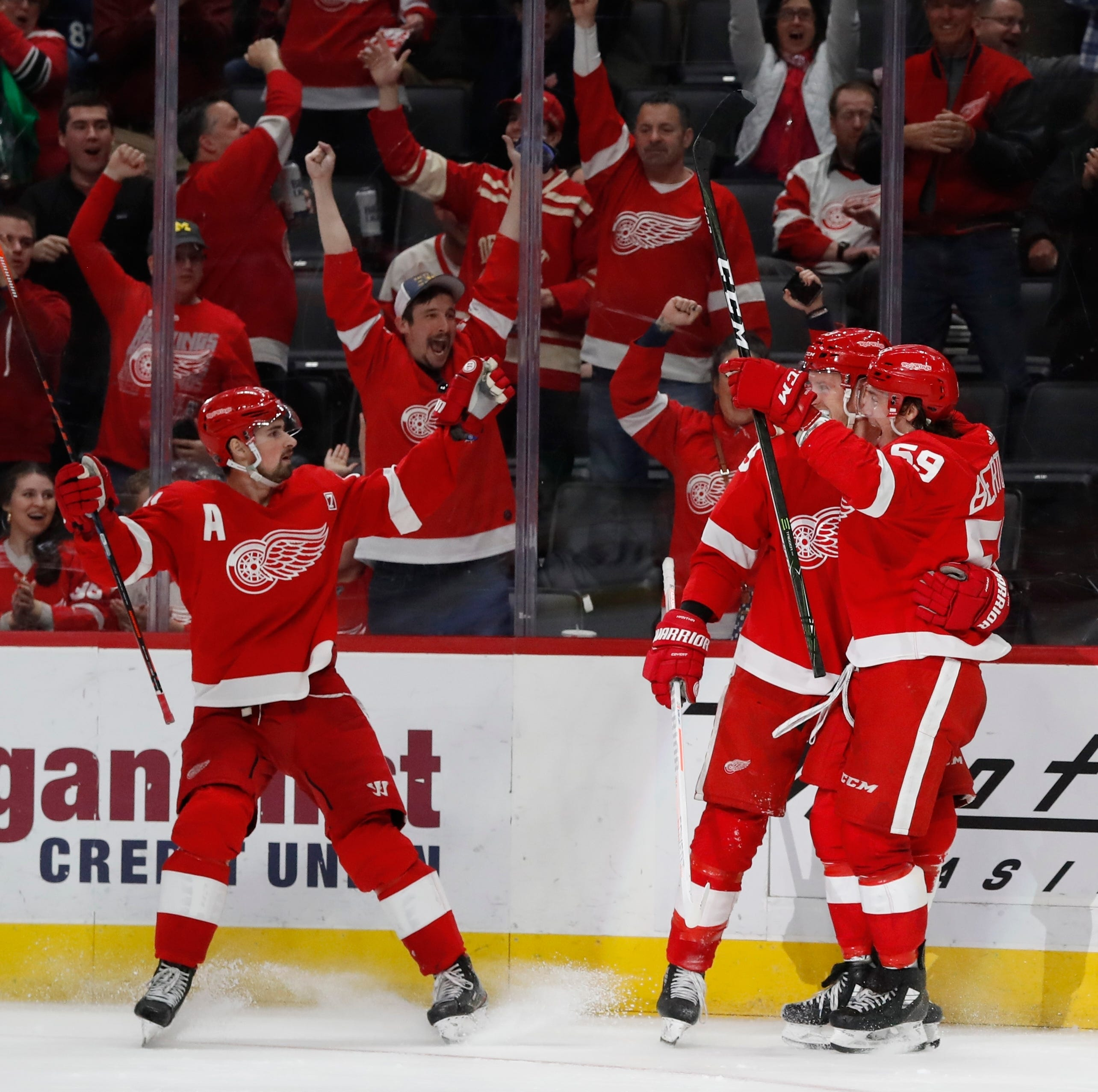 Bertuzzi's milestone highlights Red Wings' sixth straight victory, 4-1 drubbing of Penguins