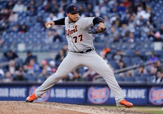 Joe Jimenez struck out two in the Tigers' 3-1 win over the Phillies on Monday.