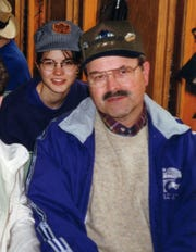 Kerri Rawson and her father Dennis Rader, aka the BTK serial killer, on the Durango to Silverston Train in Colorado, May 1999.