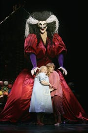 "The witch in Michigan Opera Theatre's ""Hansel and Gretel,"" seen here in a 2006 production at the Houston Grand Opera, is a fabulous 15-feet tall."
