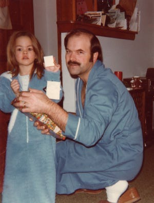 Christmas Day 1981. Kerri Rawson with her father Dennis Rader, better known to the world as serial killer BTK.