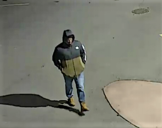 Elmira police released this surveillance photo of a suspect in a March shooting on Gray Street that sent one man to the hospital with gunshot wounds.
