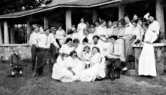 A scene at the Senators' Cottage. Diane Janowski's aunt Anna Janowski Roemelt is the woman standing on the right.