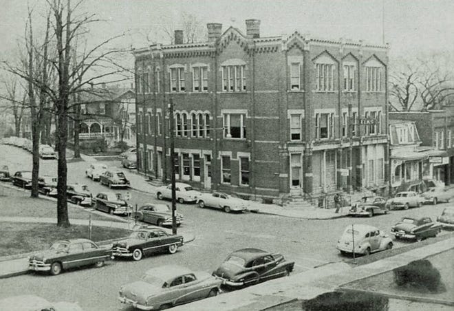 A photo of the old Elks building in Fremont from the 1950s.