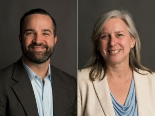 Noah Hutchison, left, and Julie Pignataro are in a tight election for District 2.