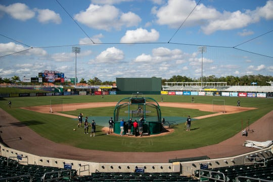 The Fort Myers Miracle practice on Tuesday, April 2, 2019.