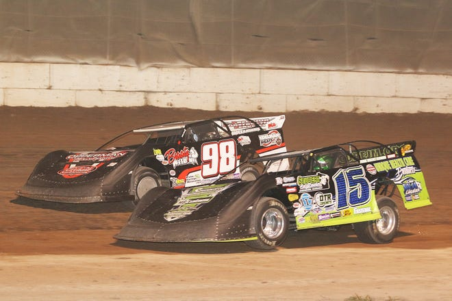 Two-time Dirt Kings Tour late model champion Nick Anvelink (15) will be among the drivers competing at Shawano Speedway's season-opening race April 13.