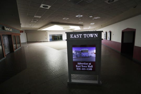 An unoccupied section of the East Town Mall in Green Bay.