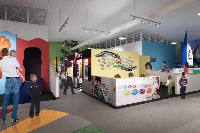 A rendering of the interior of the new Children's Museum of Green Bay.