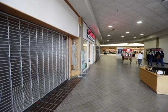 A closed storefront at the East Town Mall  in Green Bay