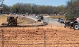 A video tour of construction happening on the bypass of Woodruff Road on Wednesday, April 4, 2019.