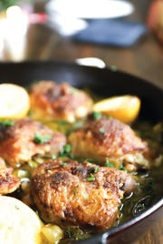 Braised Chicken Thighs with Leeks
