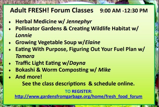 The adult forum will be offering six classes this year. Some are free, others are $5.