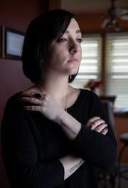 Jenna Deichman is seen at her family's home near Youngstown, Ohio on March 27, 2019.