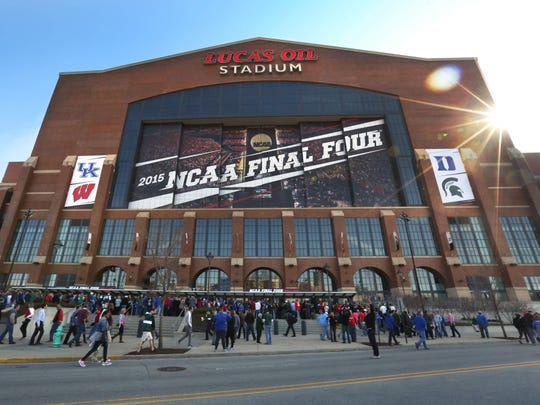 Final Four games were played at Lucas Oil Stadium in 2015. The Final Four will return to Indianapolis in 2021 and 2026.