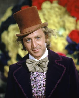 "Gene Wilder in ""Willy Wonka & the Chocolate Factory."""