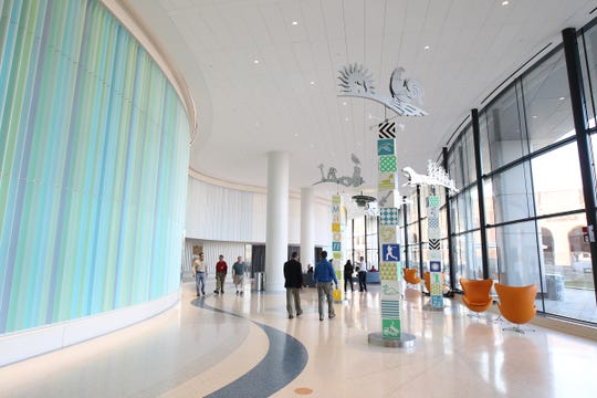 The first floor of the University of Iowa Children's Hospital is pictured on Friday, March 3, 2017.