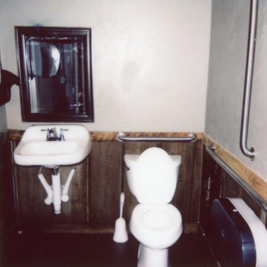 The unisex bathroom of Stock & Barrel in Market Square.