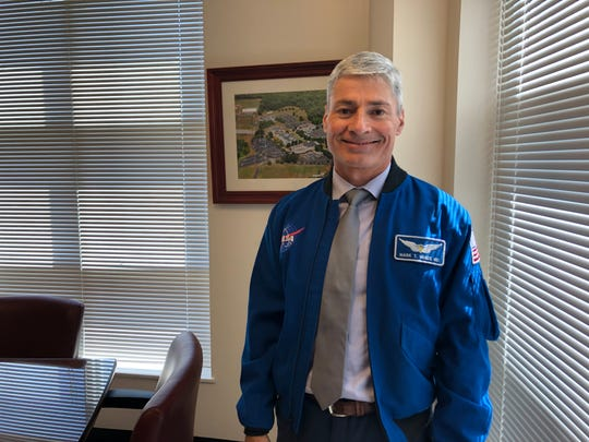 NASA astronaut Mark Vande Hei will speak at Pellissippi State Community College on Thursday, April 4, 2019, at the Hardin Valley campus.
